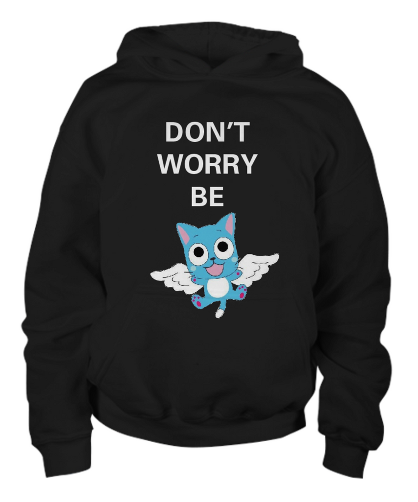 Anime Don't Worry Be Happy Unisex Cotton Youth Hoodie