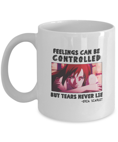 Erza Feelings Quote Mug, White