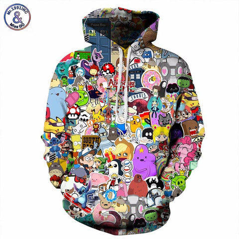 Mr.1991INC Anime Hoodies Men Women 3d Sweatshirts With Hat Hoody Unisex  Anime Cartoon 7eaf3afc794