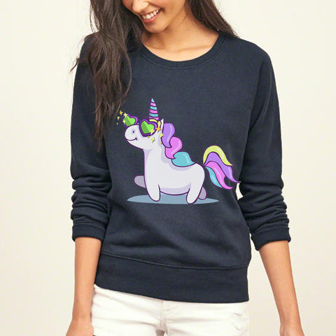 Hipster Kawaii Unicorn Hoodies for Women 2017 Anime print sweatshirts autumn winter hip-hop fleece