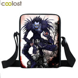 Anime Death Note Mini Messenger Bag Young Men Women Daily Bag Character L.Lawliet / Ryuuku / Yagami Light Book Bag Kids Gift Bag
