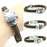 A40 New Arrive 1PC Fashion Skull Hammer One Attack On Titan Anime Cosplay Weave Bracelet