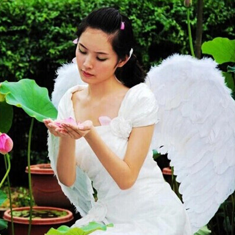 Adults Kids Feather Fairy Angel Wings Halloween Party Fancy Dress Costume 6475