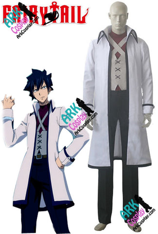 Costume - Fairy Tail Cosplay Gray Fullbuster Cosplay White Mens Fairy Tail Cosplay Costume