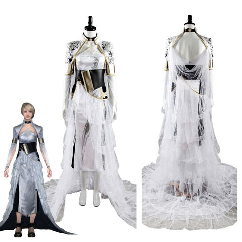 2017 Kingsglaive Final Fantasy XV Lunafreya Nox Fleuret Dress Cosplay Costumes FF15 Woman Party Evening Dresses Halloween Cloak