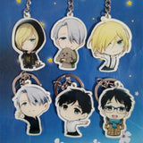 New Cute Japanese Anime YURI on ICE Keychain Victor Nikiforov Yuri Katsuki Pendant Baby Toys For Children Gift