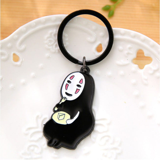 New Arrival Japan Anime Cute No Face Nan Key Ring Couple Porte Clef Keyrings