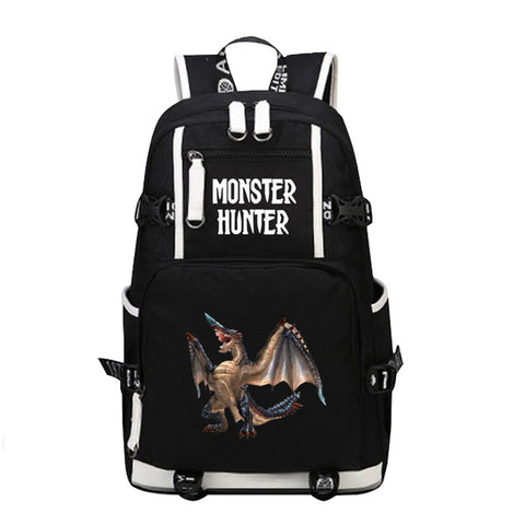fcecee8566 2017 New Anime Game Monster Hunter World Dinosaur Laptop Backpack Bags  Printing Unisex School Bags Bookbag