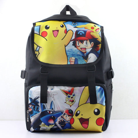 Pokemon backpacks Pocket Monster backpacks  Picacho Satoshi  anime kids school bags student bags cartoon mochilas laptop