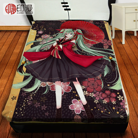 150cm x 220cm Japan Anime TouHou Project Flannel Blanket on Bed Mantas Bath Plush Towel Air Condition Sleep Cover bedding