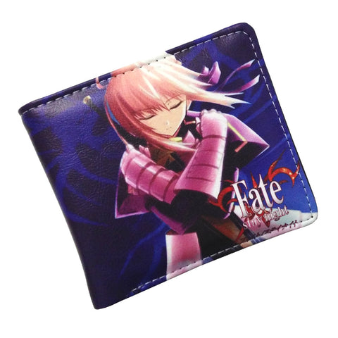 Anime Folding Wallet Fate Stay Night Saber Lily Altria Pendragon High Quality Short PU Purse