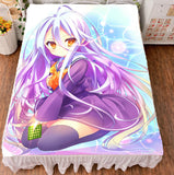 Anime Bedspreads Coverlets No Game No Life Shiro Flat Bed Sheet Blanket Gifts