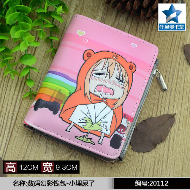 Student Short Coin Purse Anime Himouto! Umaru-chan Doma Umaru Zero Change Wallet with Magnetic Button