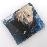 Anime Folding Wallet Final Fantasy VII Cloud Strife, Sephiroth High Quality Short PU Purse