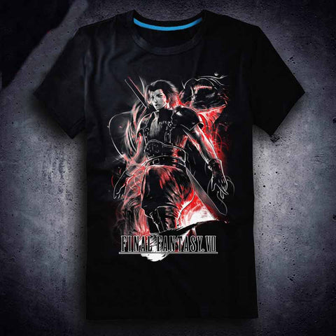 New Final Fantasy VII T-shirt Anime FF VII Zack Fair t shirt Cotton Summer Short-sleeve Tees tops
