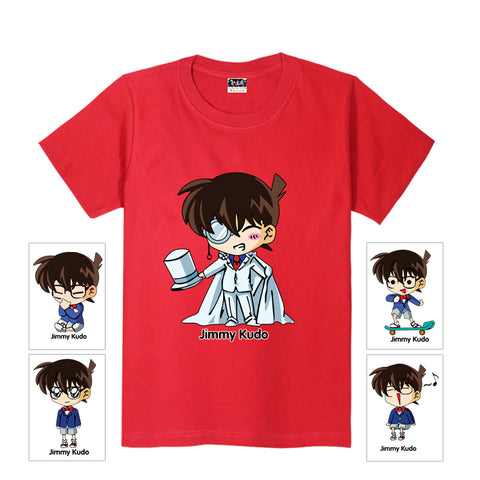 Fashion Anime Detective Conan Kid the Phantom Thief Printed O-neck T-shirts Men Short-Sleeve Tees Causal Tops Plus Size