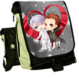 Anime YURI!!! on ICE Cosplay Yuri Plisetsky Cos  2017 new shoulder bag student pain package large capacity backpack birthday gif