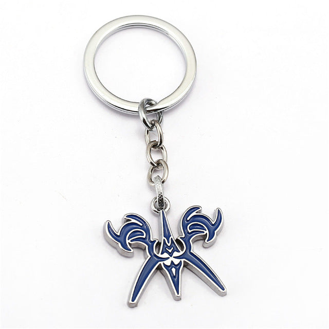 Fate Night Keychain 3 design Stay night Cross Key Chain Hot Anime Key Ring Holder Pendant Chaveiro Jewelry