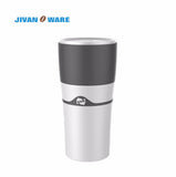 JIVANWARE 400ml Portable Travel Outdoor Mug Ice Drip Coffee Maker Multi Coffee Pot Bottle Espresso 3pcs Reusable K Cups For Free