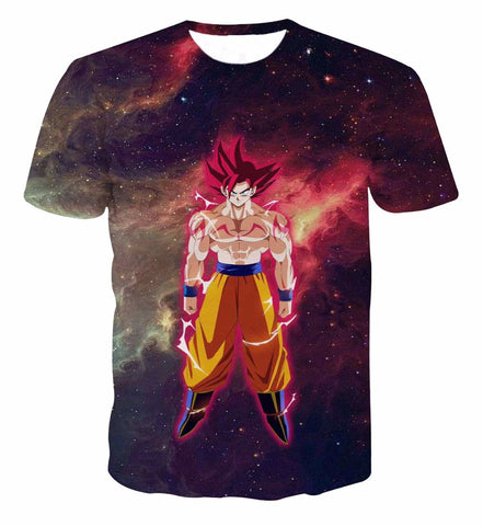 Newest Galaxy Space Anime Dragon Ball Z Goku 3d t shirts Fashion Summer Men/Boy Super Saiyan Tee Tops Clothes