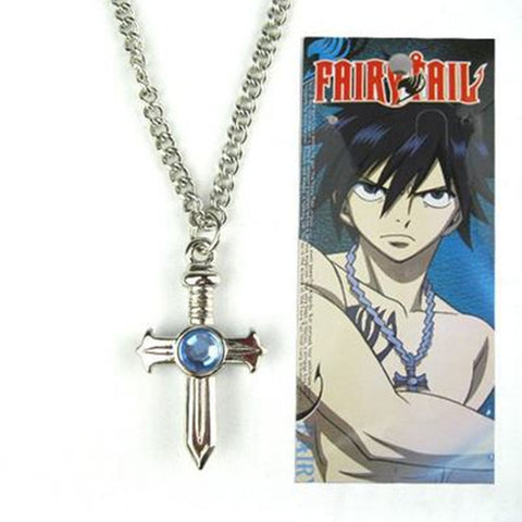 Anime Fairy Tail figure toys Gray Fullbuster cosplay Cross Necklace pendant Collectible cartoon toys for kids gift