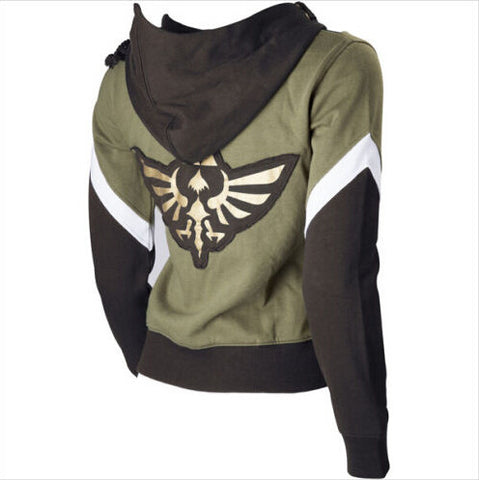 The Legend of Zelda Link Hoodie Zipper Coat Jacket Hooded Sweater For Men Women