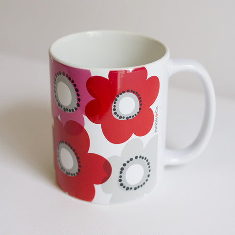 Pipkin&Co Mug - Red Flower