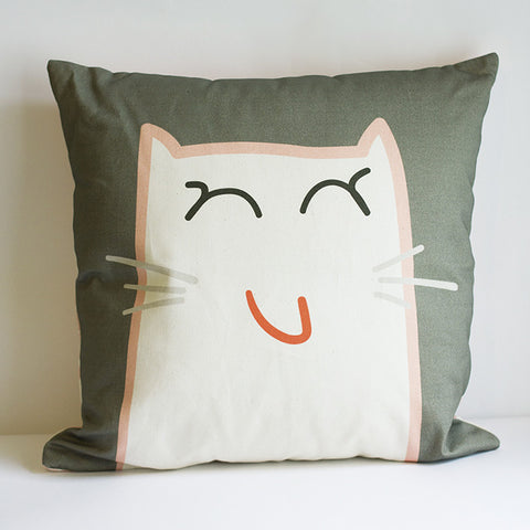 SALE! Pipkin&Co Cushion - Happy Cat