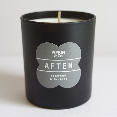 AFTEN Seaweed & Juniper scented candle.