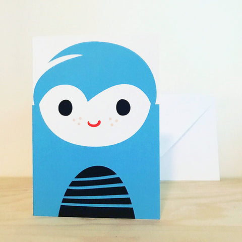 'BOY' greetings card by Pipkin&Co
