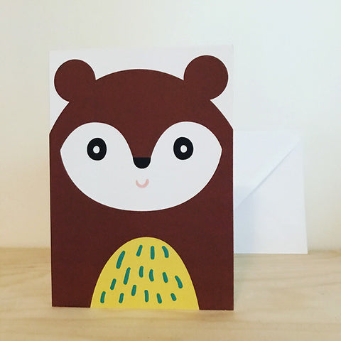 'BEAR' greetings card by Pipkin&Co
