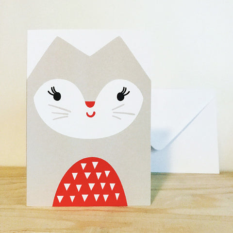 'CAT' greetings card by Pipkin&Co