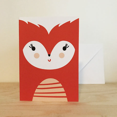 'Fox' greetings card by Pipkin&Co