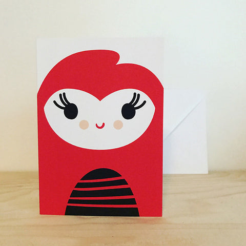 'GIRL' greetings card by Pipkin&Co