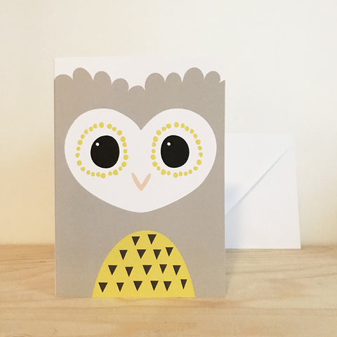 'OWL' greetings card by Pipkin&Co