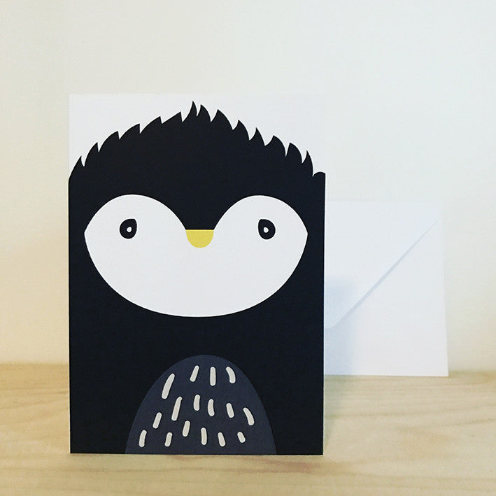 'PENGUIN' greetings card by Pipkin&Co