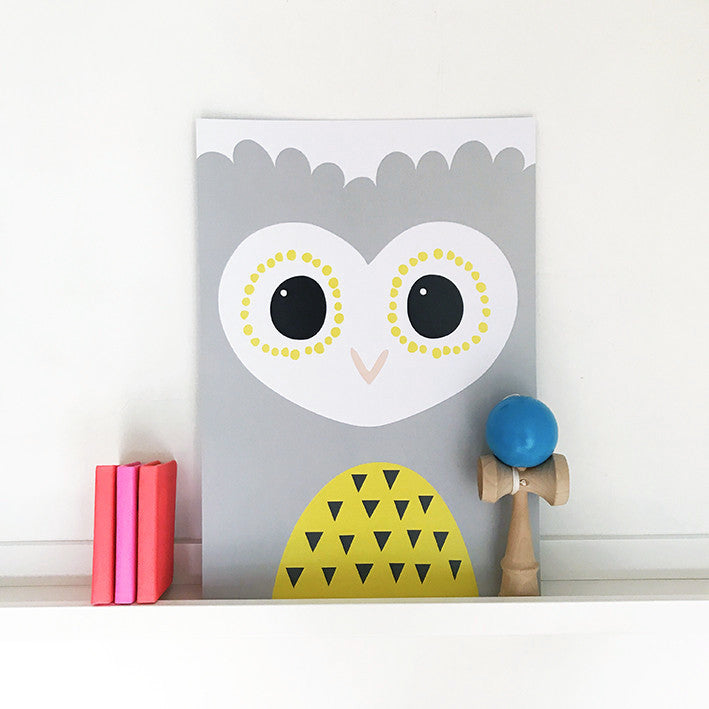 'OWL' print by Pipkin&Co