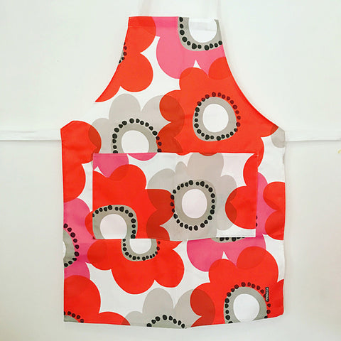 Pipkin&Co Scandi Apron - Red Flower