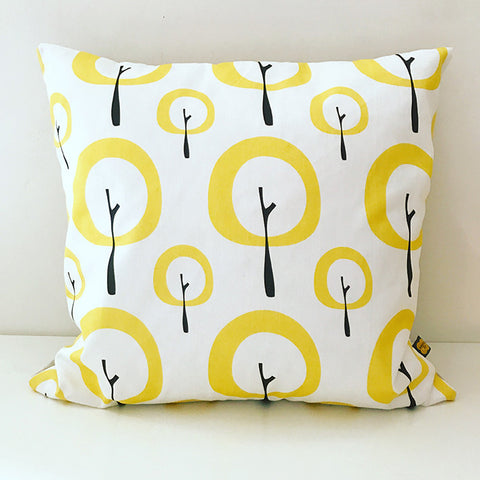 Pipkin&Co Scandi Cushion - Yellow Tree