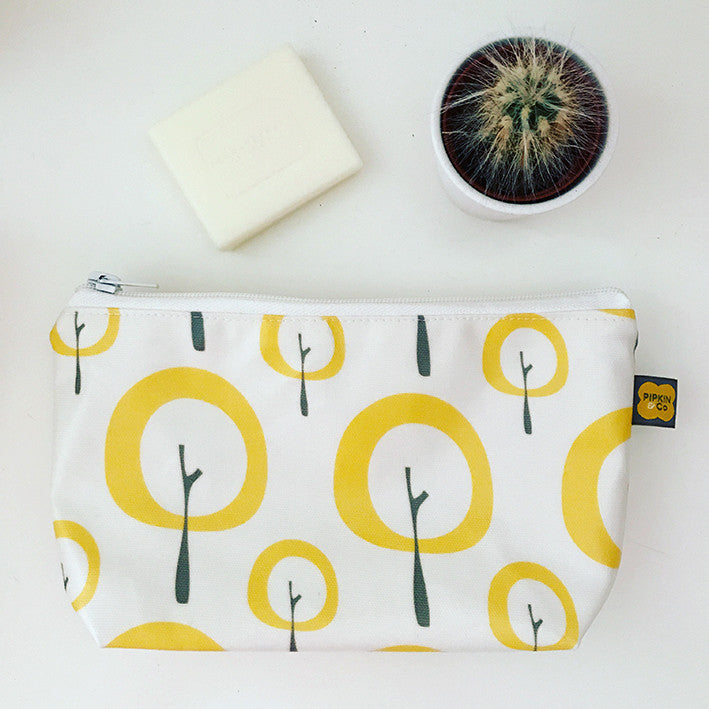 Yellow Tree small wash bag / make-up bag