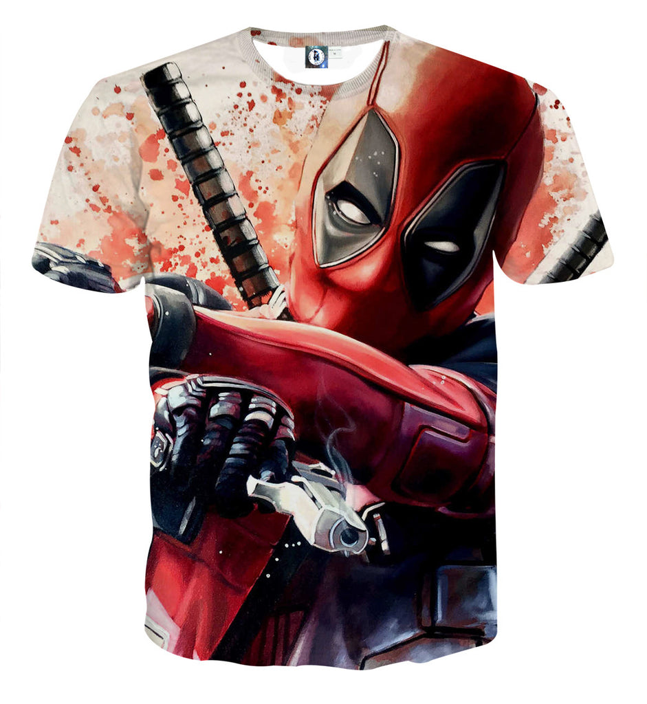 Deadpool Daily sale - Save 35% ONLY TODAY Deadpool 3D T-Shirt