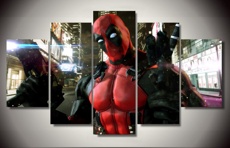 Deadpool canvas print 5 pieces