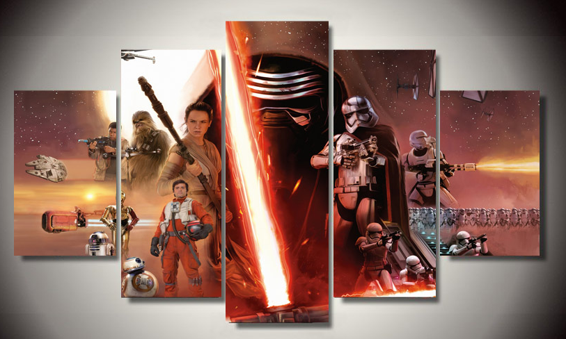 Star Wars The Force Awakens canvas print 5 pieces