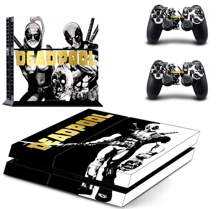 Skin Stickers For Sony Playstation 4 Console and 2 Controllers