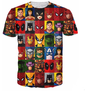 All superheroes 3D T-shirt
