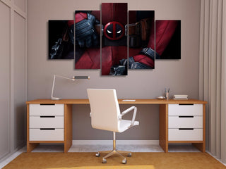 HD 5 PCS Deadpool Canvas Print