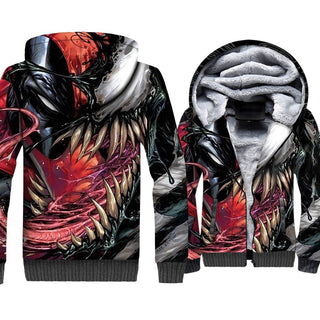 3D Thicken Zipper hoodies