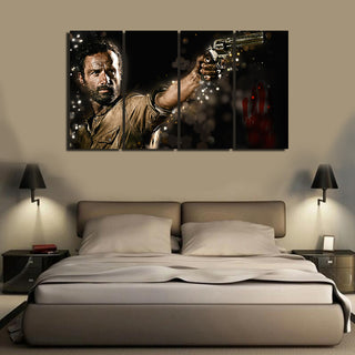 Save up to $60 today !  24 Hour Offer - HD Printed Walking Dead 4 Pieces Canvas