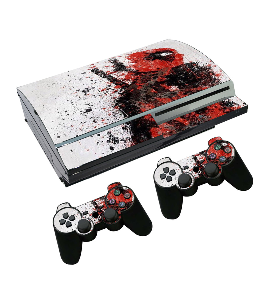 Skin Stickers For Sony Playstation 3 Console and 2 Controllers