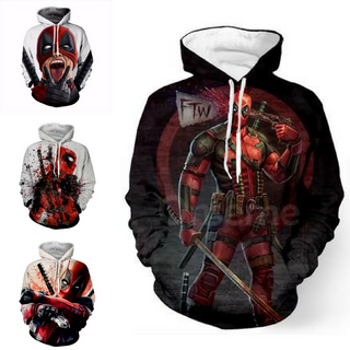 DEADPOOL Custom Made 3D Hoodie